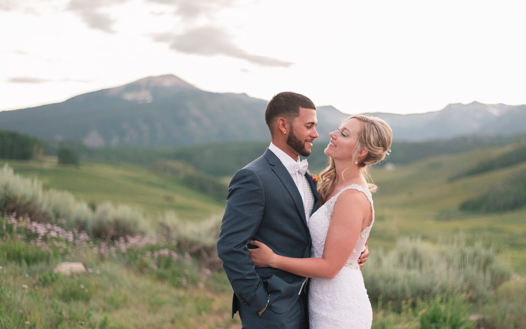 Cris & Taylor | Crested Butte Mountain Wedding Garden