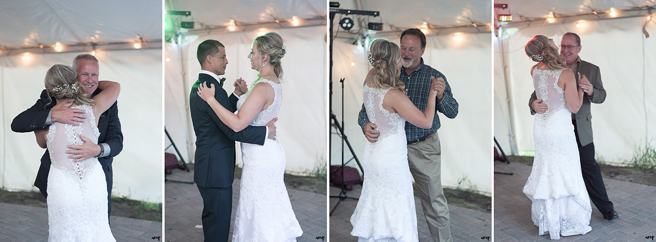 Bride's father-daughter dance without her father