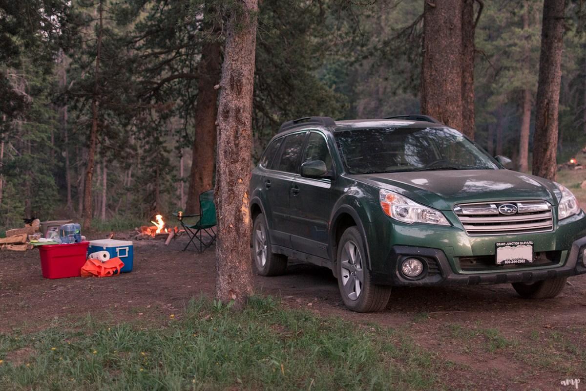 Car Camping In A Subaru Outback Crested Butte