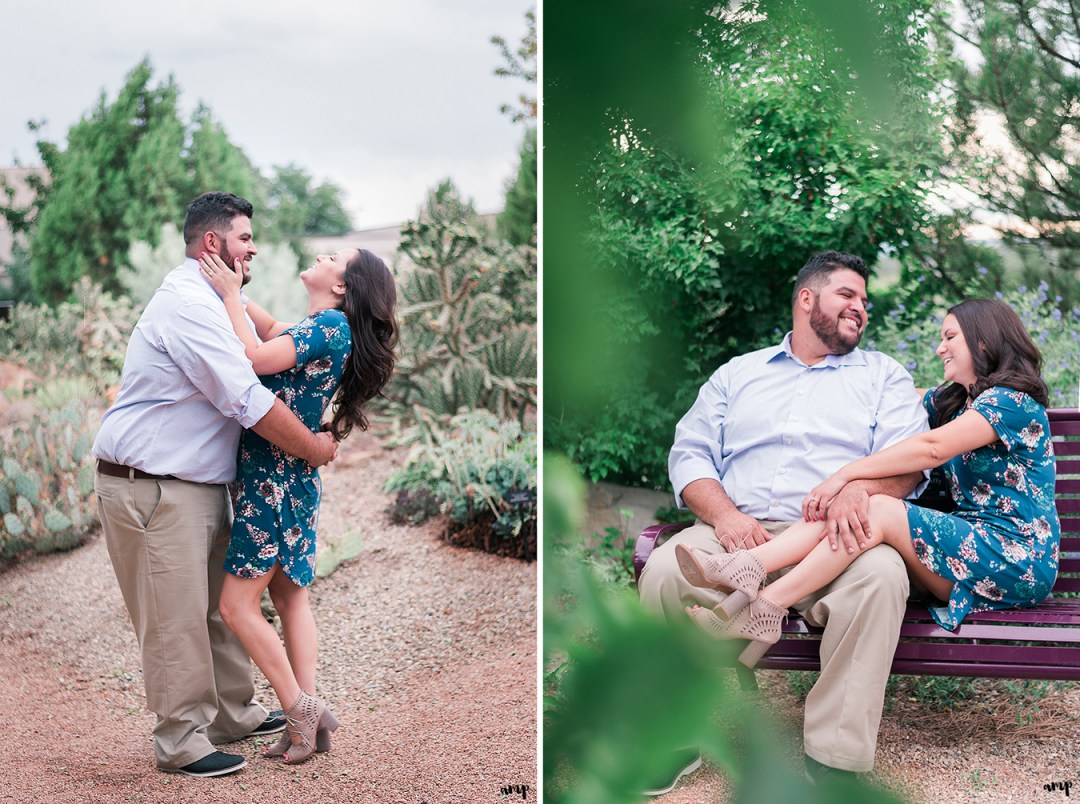 Engagement session in the Montrose Botanic Garden xeriscape