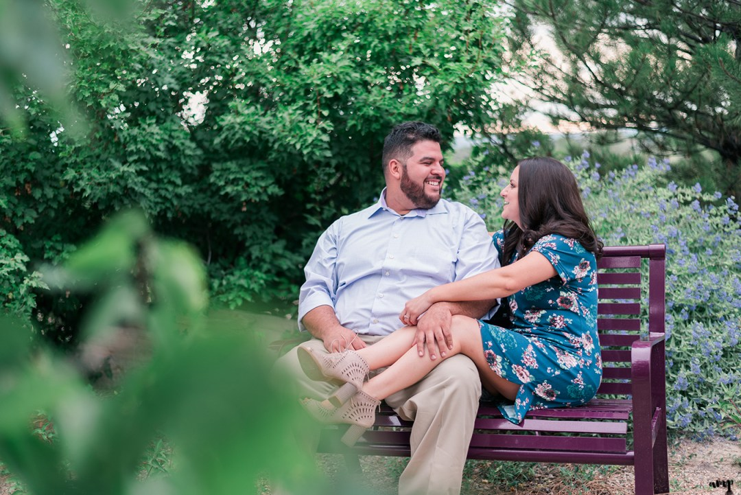 Engagement session in the Montrose Botanic Garden