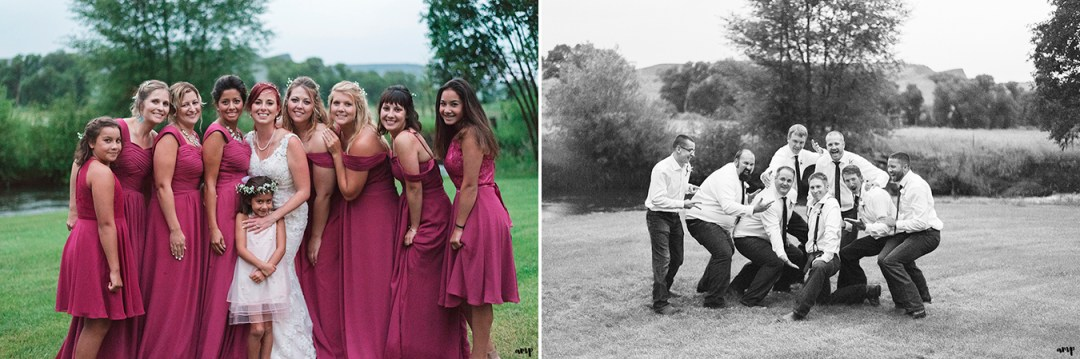 Bridal Party at the Gunnison wedding along Ohio Creek