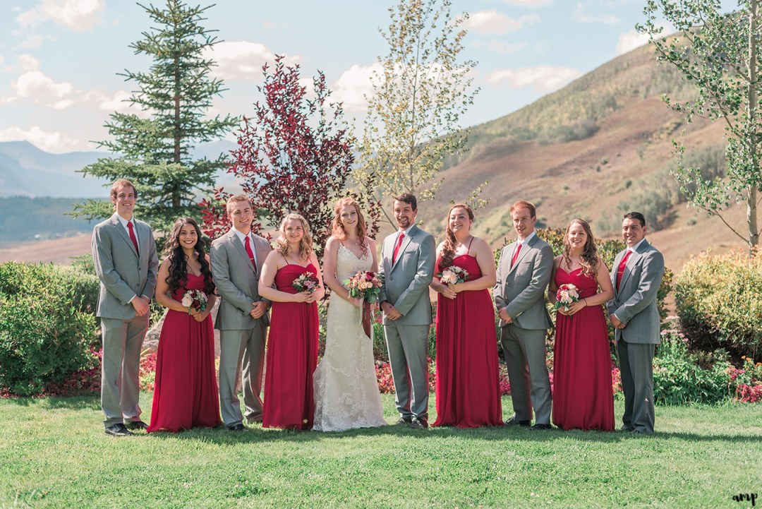 Autumnal wedding party | Fall Wedding in Crested Butte at the Mountain Wedding Garden | amanda.matilda.photography