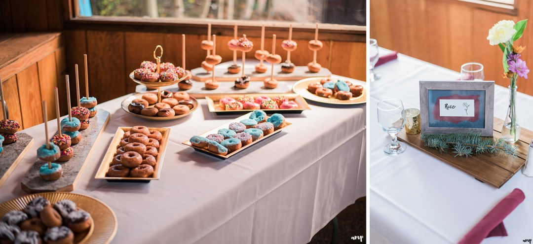 Donut bar at the Mountain Wedding Garden in Crested Butte
