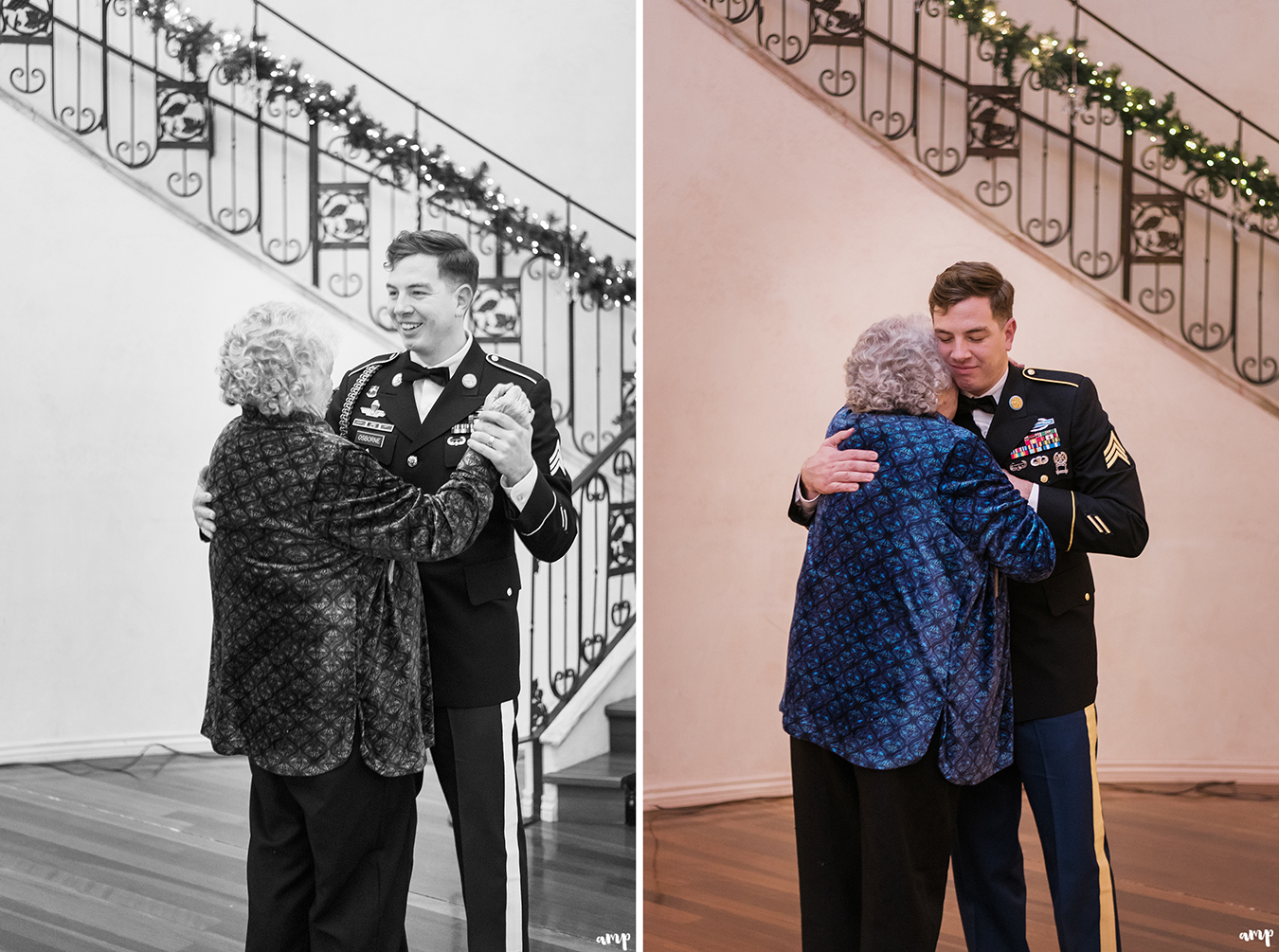 Groom and his grandmother share a special dance