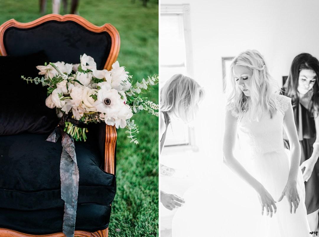 Beth getting ready | Grand Junction Backyard Wedding | amanda.matilda.photography