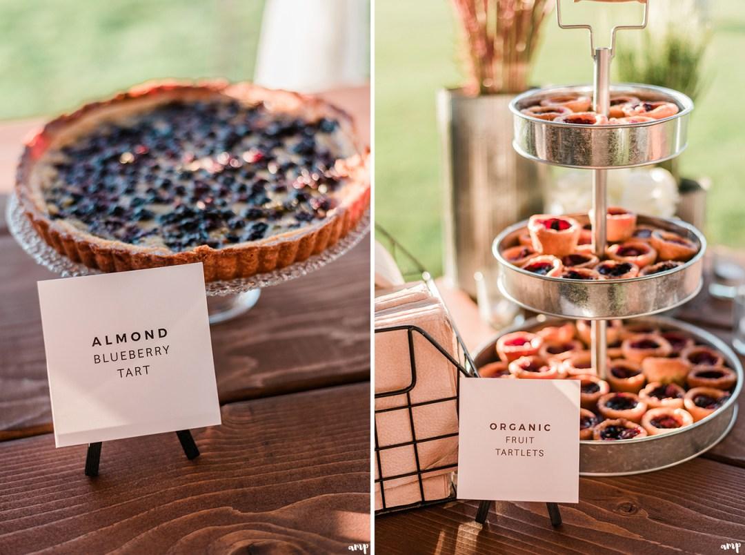 Pies for dessert | Grand Junction Backyard Wedding | amanda.matilda.photography