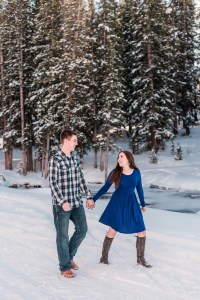 Christian & Savanna | Grand Mesa Winter Engagement | Amanda Matilda Photography