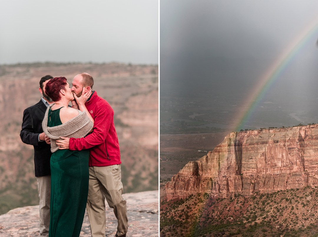 Shawn & Angie | Rainy Elopement on the Colorado National Monument