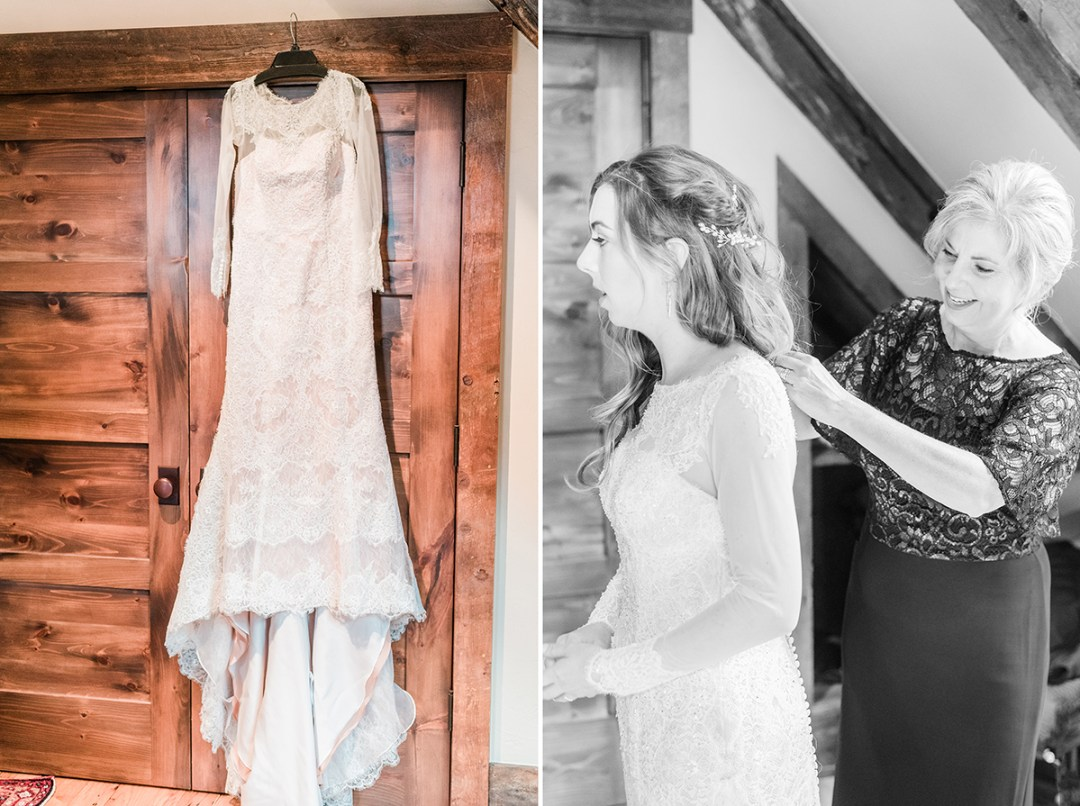 Bride getting ready at VRBO in Crested Butte