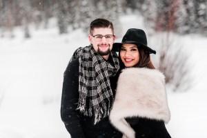 Tina & Tyler | Snowy Engagement Photos on the Mesa