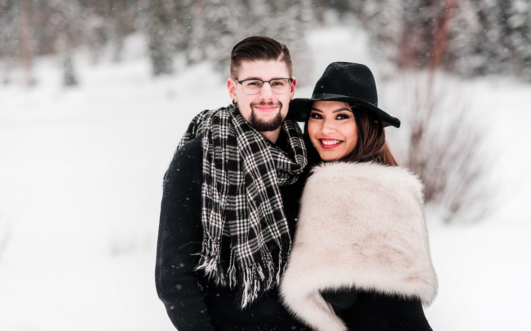 Tina & Tyler | Snowy Engagement Photos on the Mesa