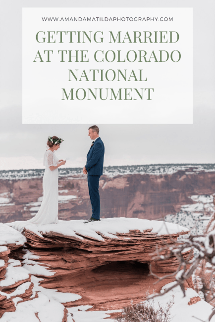 Getting Married at the Colorado National Monument | Amanda Matilda Photography