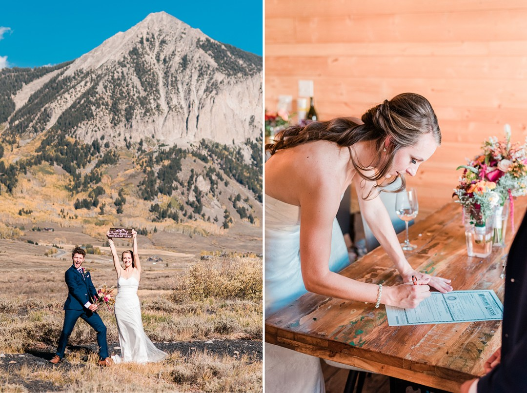 Dani & Aiden | Elopement at the Woods Walk in Crested Butte