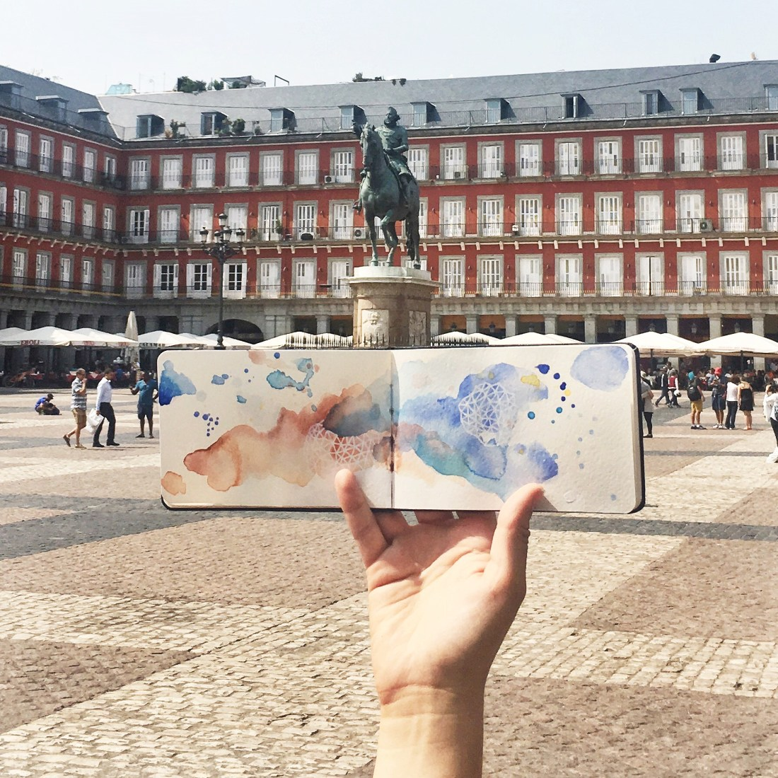 Amanda Michele's Travel Sketchbooks: Madrid, Spain
