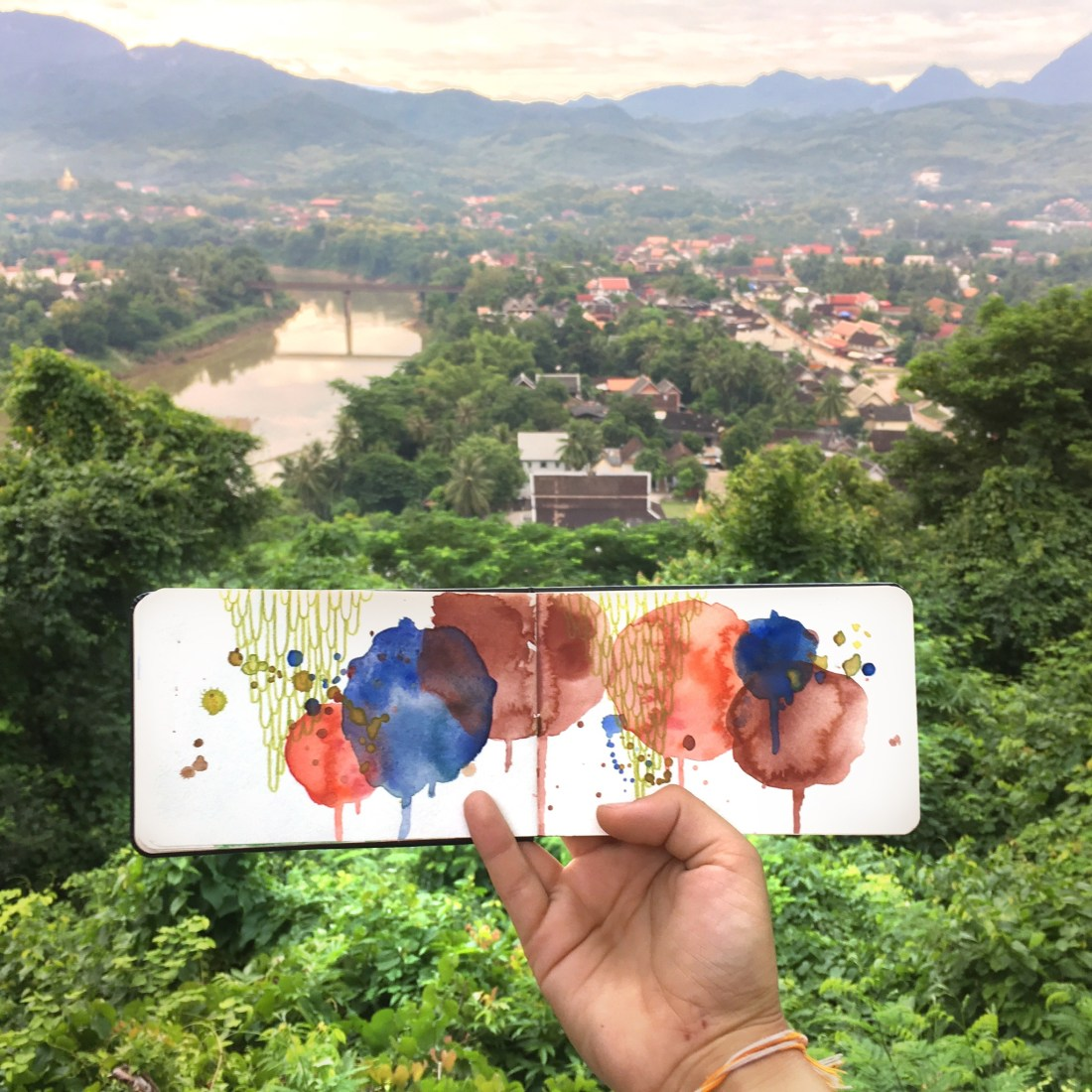 Amanda Michele's Travel Sketchbooks: Luang Prabang, Laos