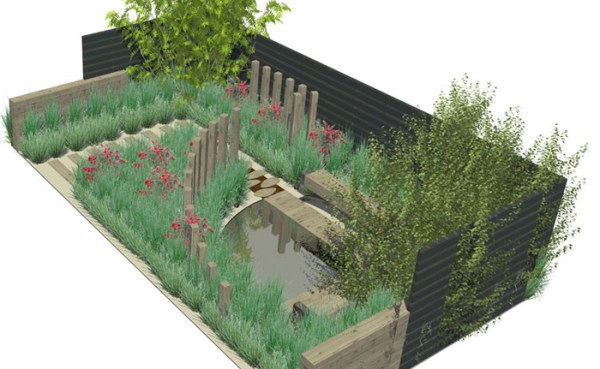 modern natural garden design