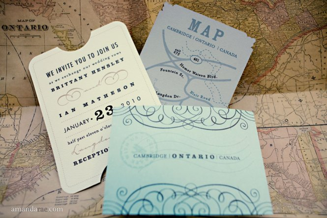 It 39 S A Flat Card With Map Enclosure That Is Tied Raffia And Wooden Airplane Comes Matching Rsvp Post Equally Cool