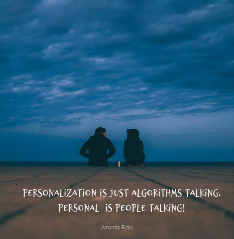 personalization is algorthms