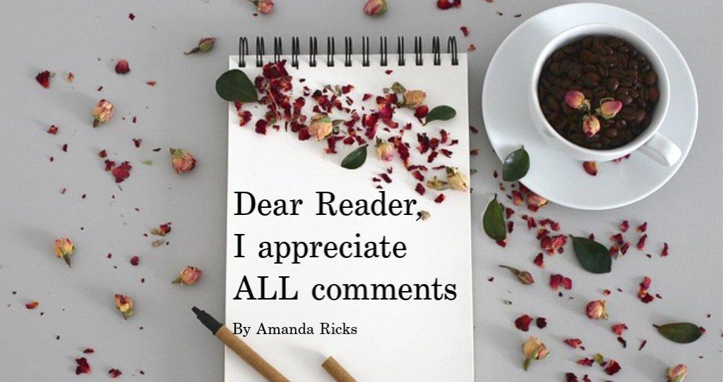 I appreciate all comments header