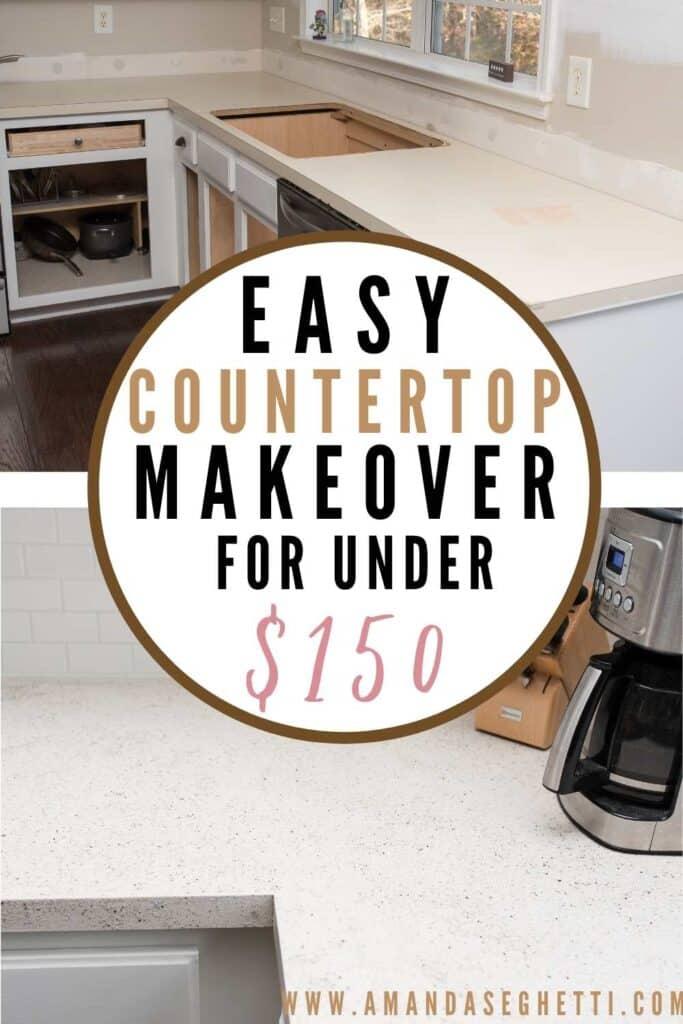 easy diy countertop refinishing with