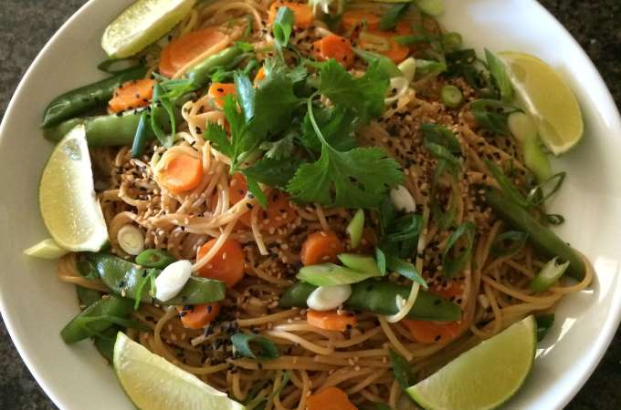 One Pot Sesame Noodles