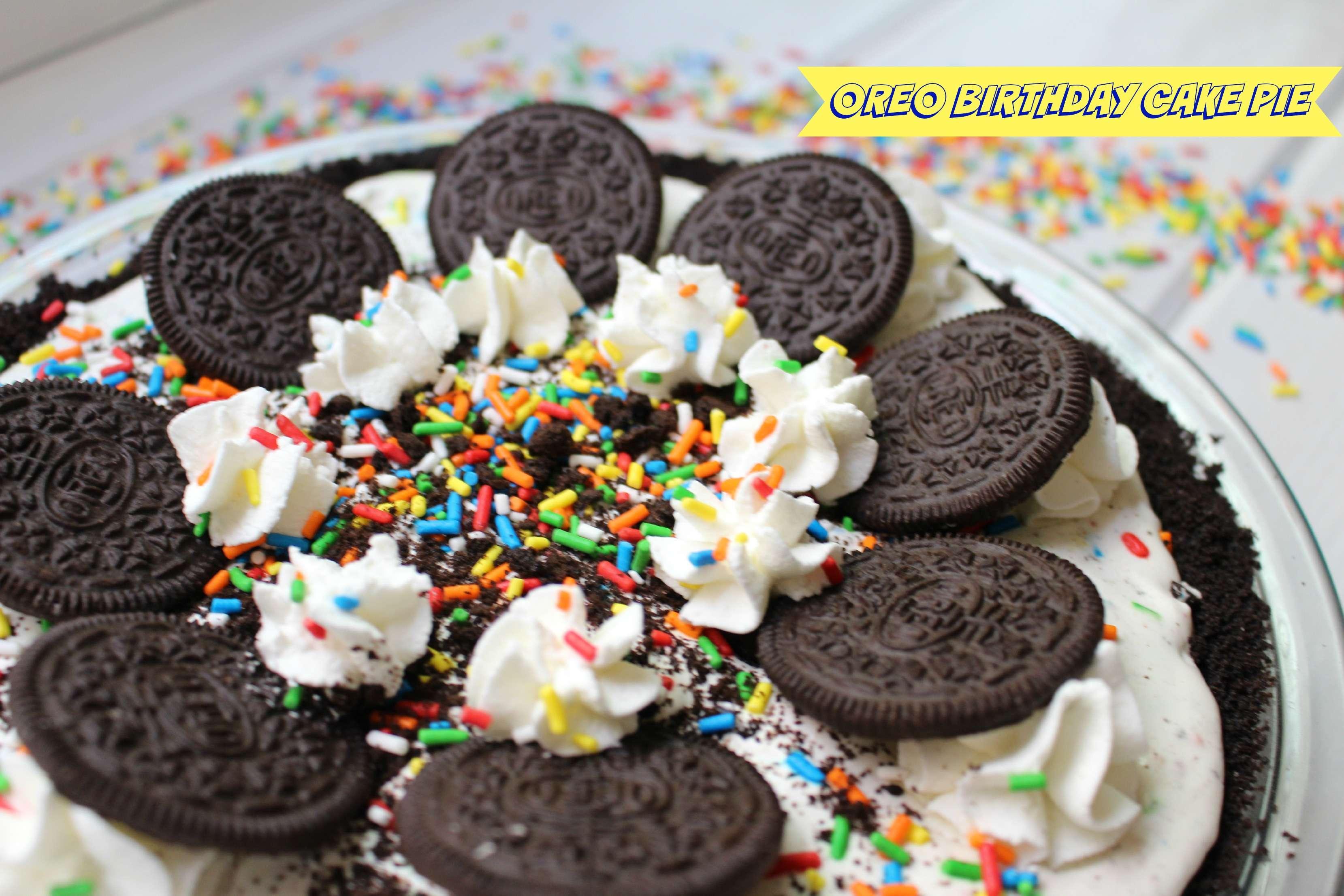 Excellent Oreo Birthday Cake Pie Amandas Plate Funny Birthday Cards Online Benoljebrpdamsfinfo