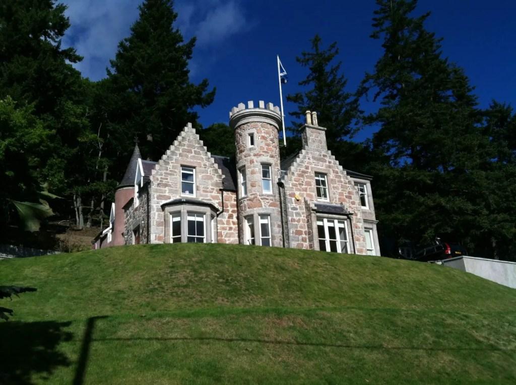 Small castle in Ballater, Scotland