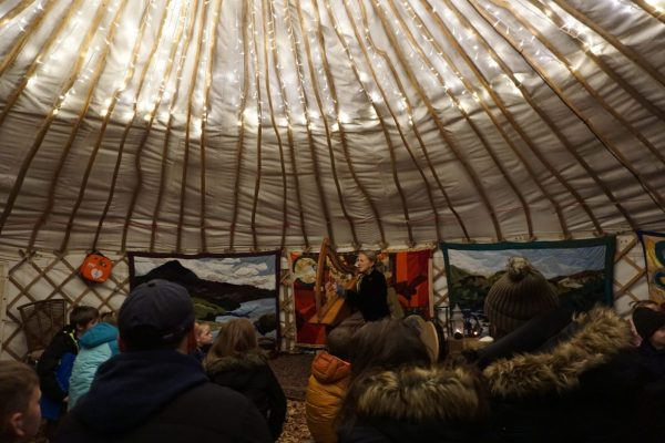 storyteller yurt at the 2016 Enchanted Forest