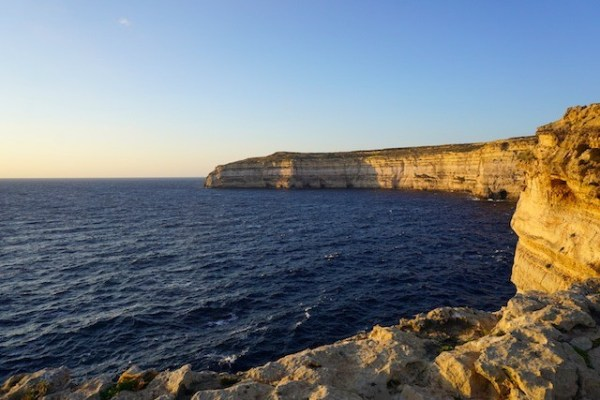 Island of Gozo cliffs near the old Azure Window