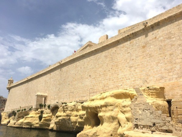 Take the staircase at the end of Vittoriosa to view Valletta from across the Grand Harbour