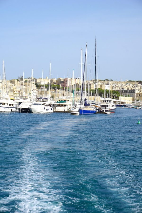 View from the ferry from the Three Cities in Malta to Valletta
