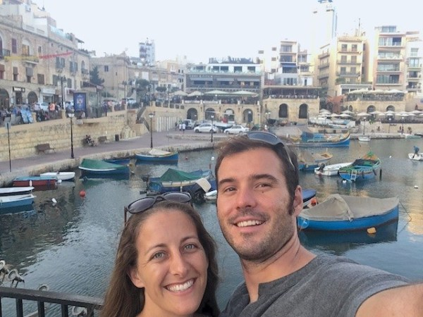 Expats in Malta Amanda Walkins and Jonathan Clarkin
