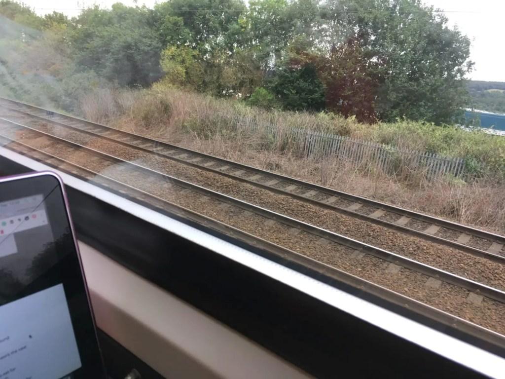 Freelance writing on a train