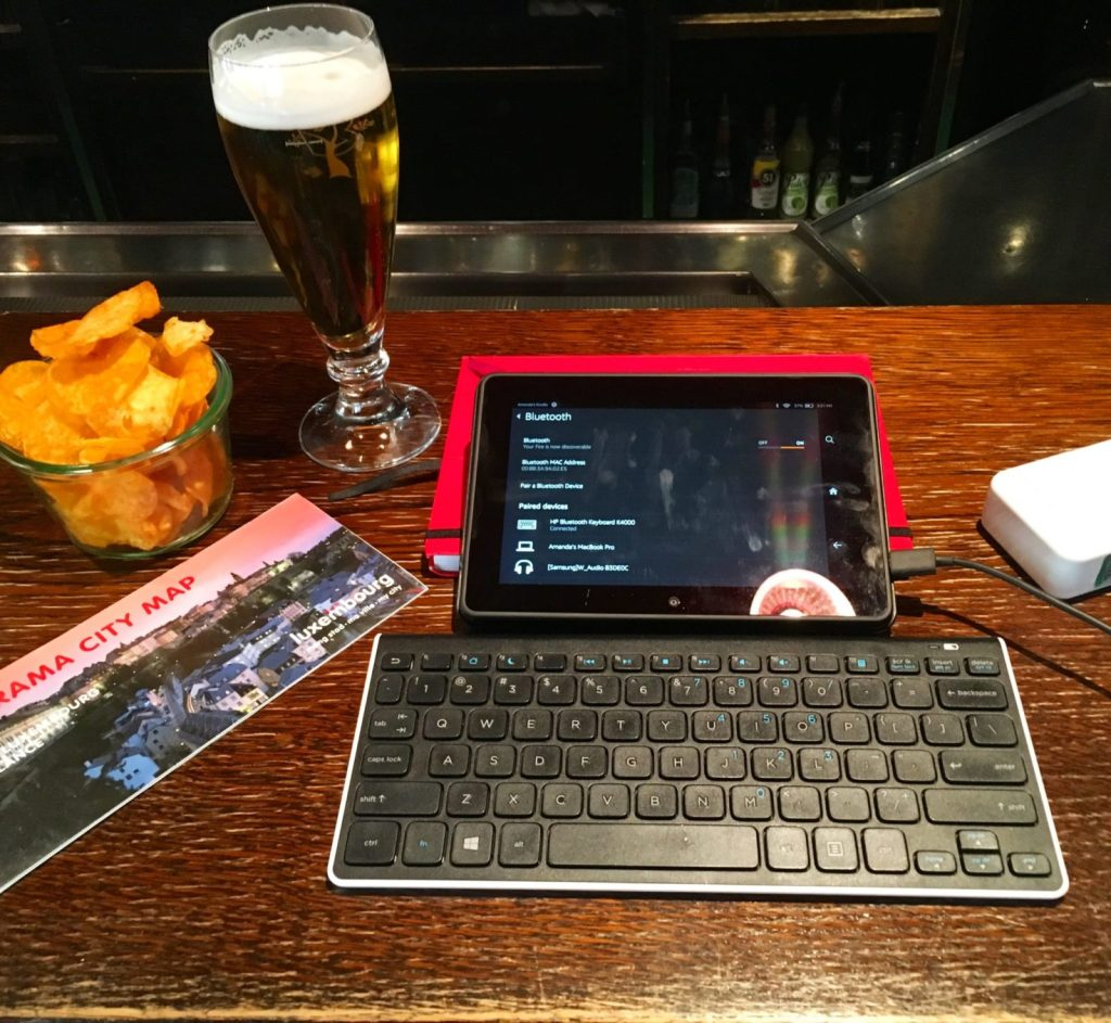 Freelance writing means you can work from a pub with a beer