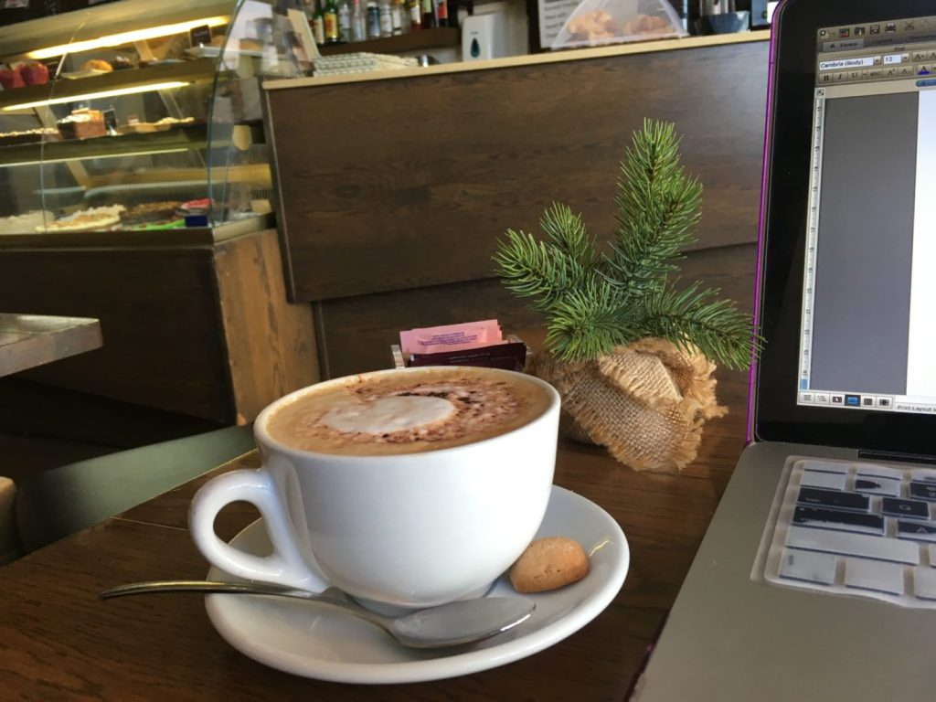 Freelance writers also often work from cafes