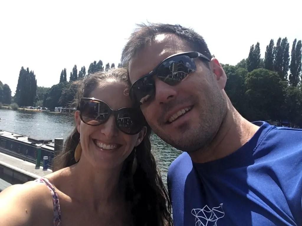 Housesitters Amanda Walkins and Jonathan Clarkin in London