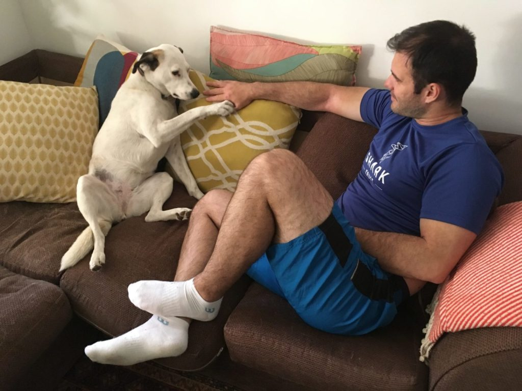 Jonathan Clarkin and Rosa, housesitting in London with TrustedHousesitters