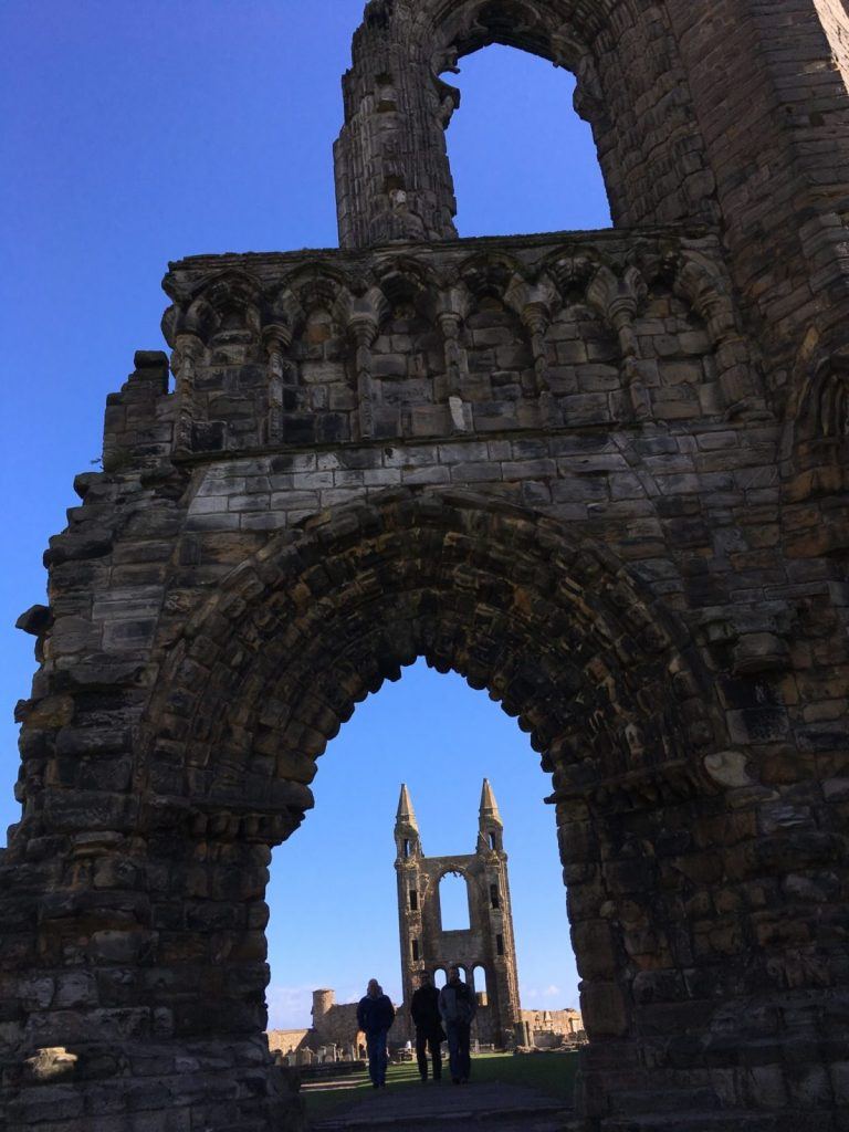 Ruins of the cathedral in St Andrews in Scotland