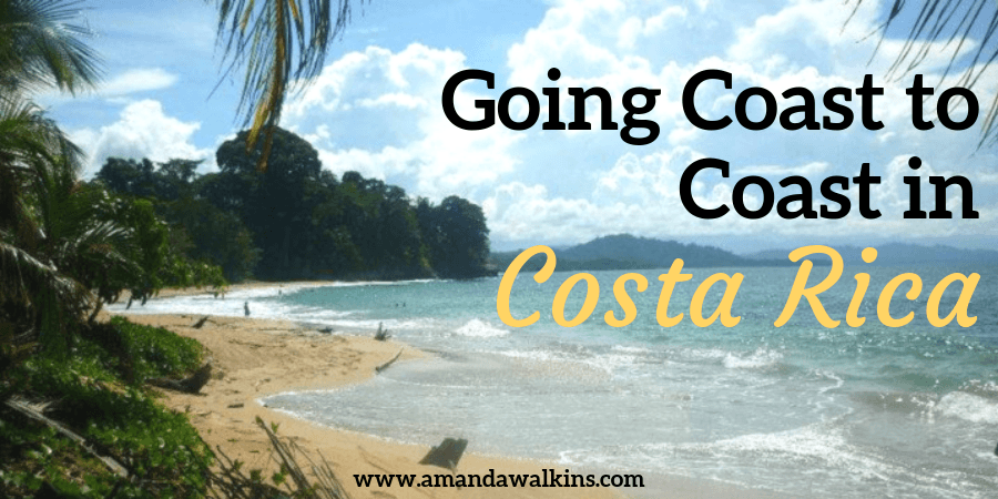 Coast to coast in Costa Rica along the golden sand beaches lined with palm trees