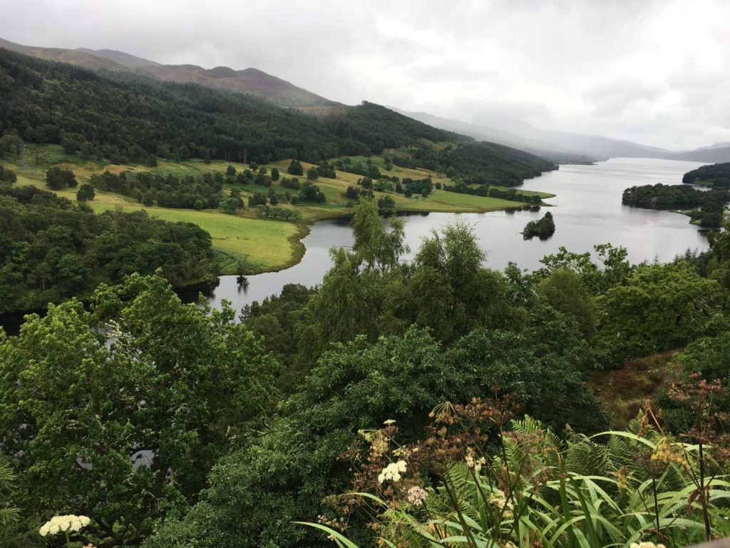 View from Queen's View outside of Pitlochry on a day trip from Edinburgh