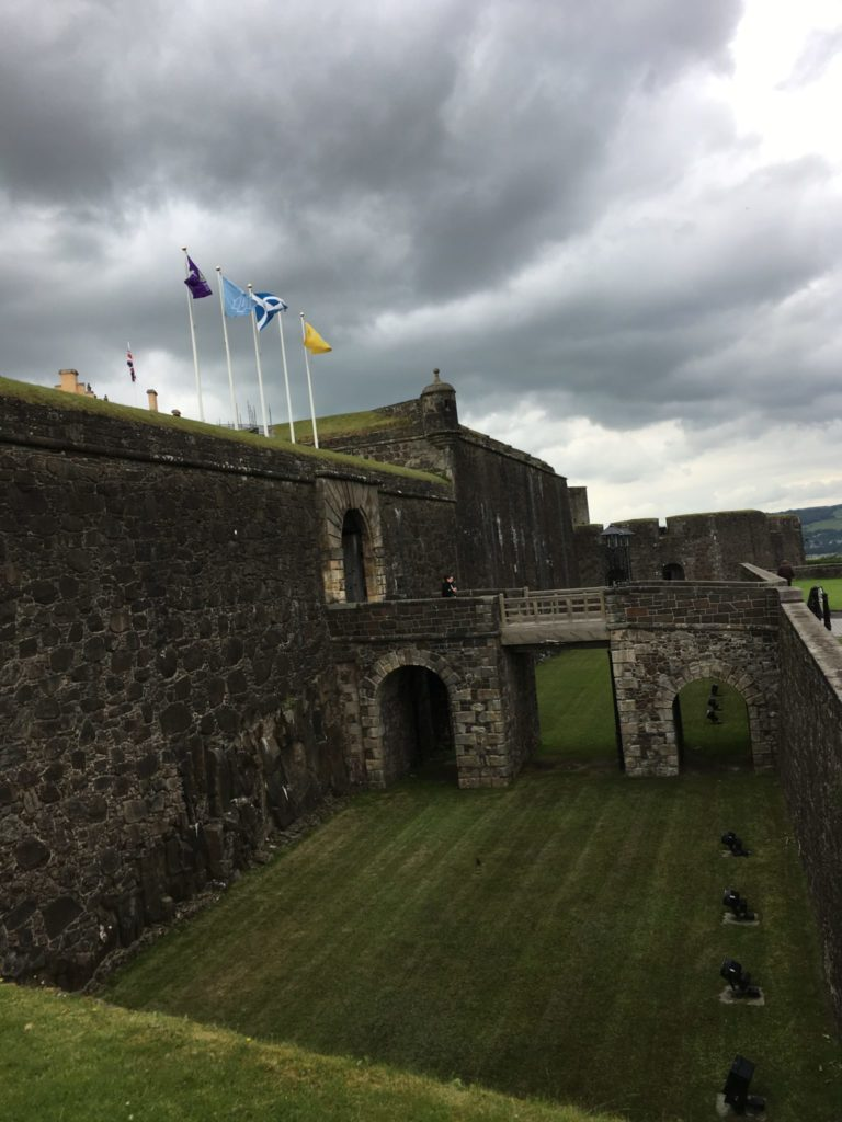 Stirling Castle on a dark cloudy day