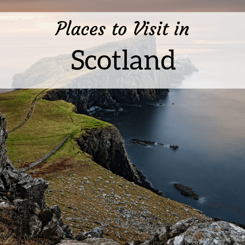 square header image for places to visit in Scotland