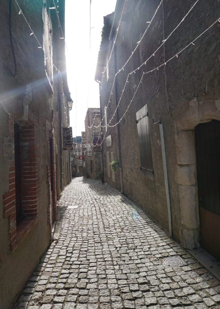 quiet streets of southern France in winter