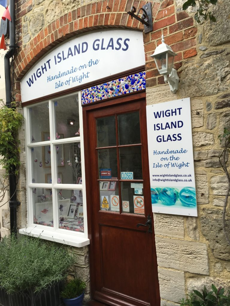 Wight Island Glass storefront in Yarmouth