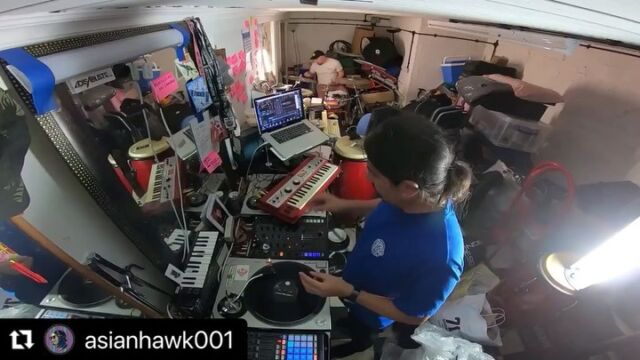 Loving this... visit @asianhawk001 to hear the whole thing: #Repost from @asianhawk001 ・・・ More Cuts and Chops from myself and #homeslice @theolovesdrums messing around with the latest record from @amandawhitingharp (with @chipwickham on flute)Definitely go check that out as it's amazing! Unfortunately this was cut off by the camera battery dying, always charge your battery folks, lesson learned. Wanna see us incorporate these in to the live shows? Let us know in the comments. Stay tuned for more to follow.#live #livemusic #drums #drummer  #instadrummers  #dj #instadj #turntablists #turntablism #turntables #traktor #serato @nativeinstruments #djcity #scratching #collaboration #hiphop  #goldenage #bristol  #livejam #ukjazz #jazz #skratchsociety  @squared_roots #takingcareofbiz #discoverme #newmusic #remix #harp #flute