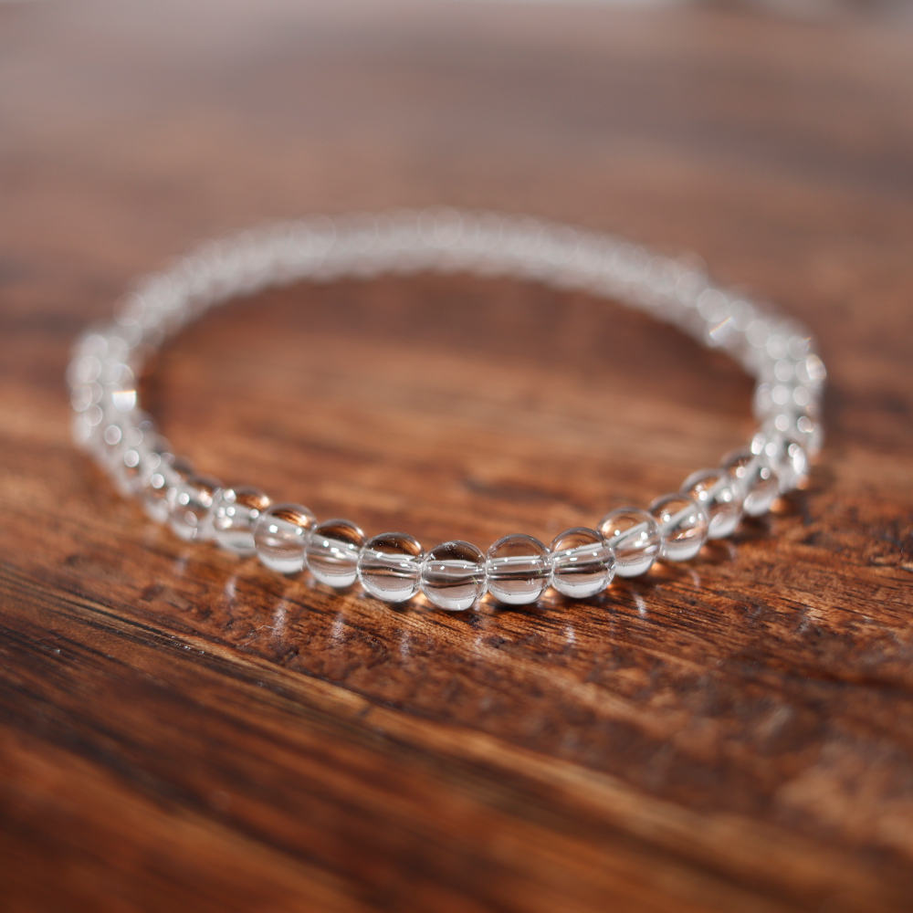 Bracelet en cristal de roche, de 4 mm