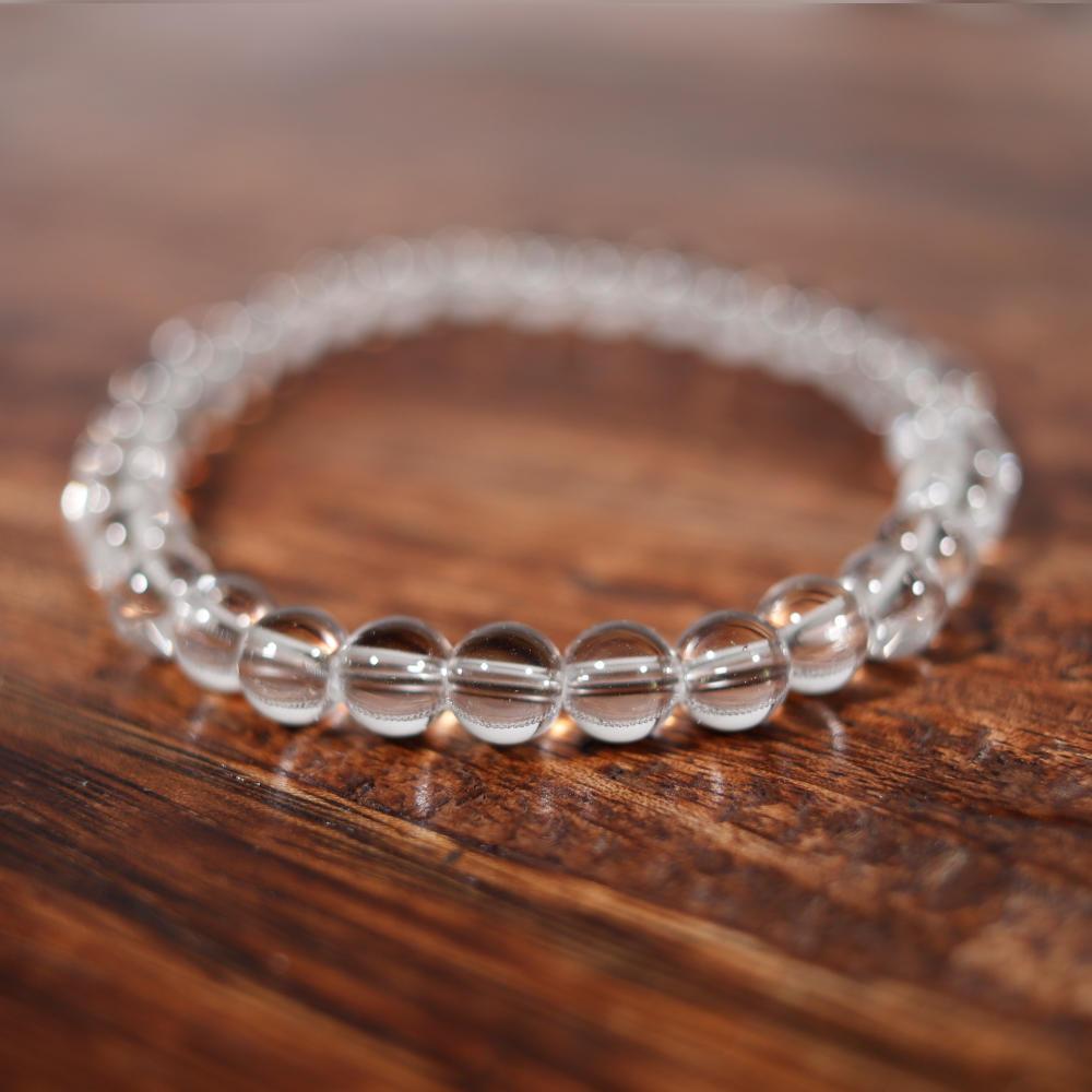 Bracelet en cristal de roche, de 6 mm