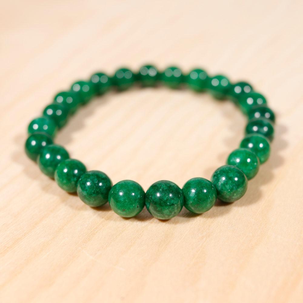 Bracelet en jade africain, perle en 8 mm