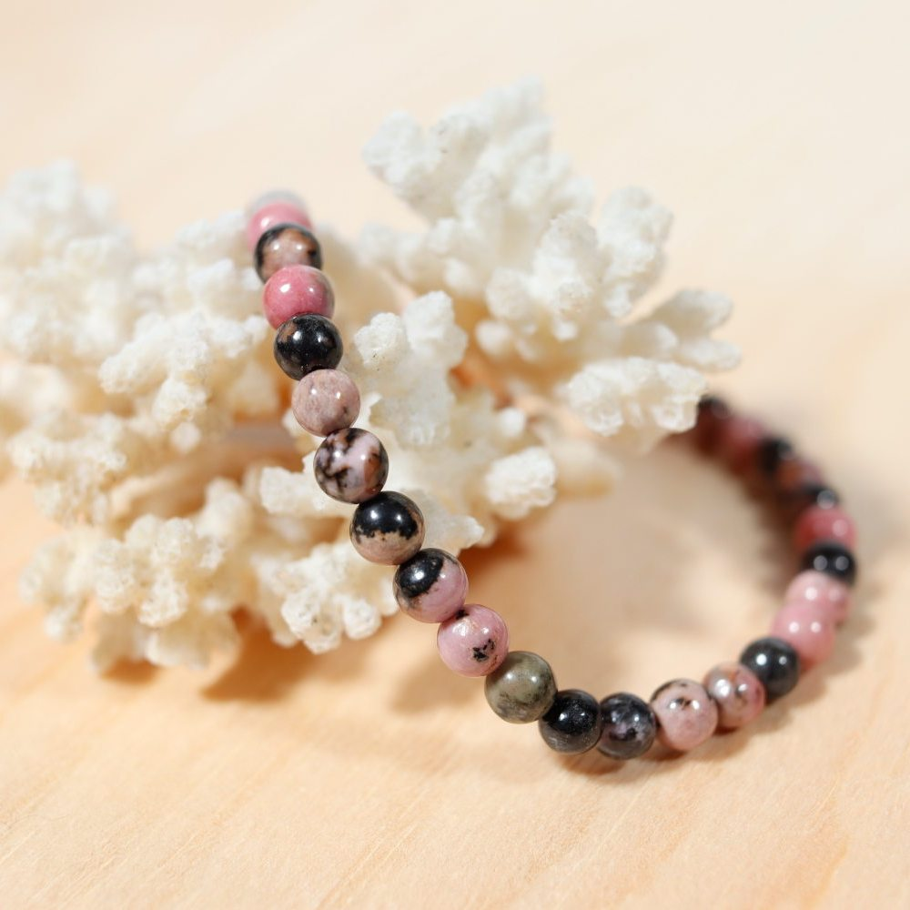 Bracelet en rhodonite